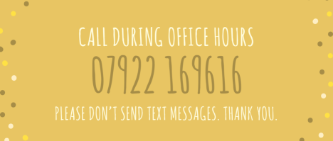 Call during office hours